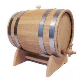 Бочка для вина с краном 5 л Люкс (украинский дуб)