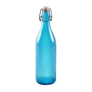 Купить Стеклянная бутылка 1 л голубая в Уфе