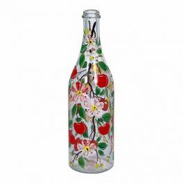 Бутылка «Вишня» с ручной росписью 1 л