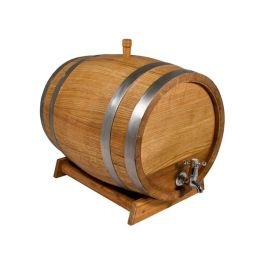 Бочка для вина с краном 10 л Люкс (колотый дуб)