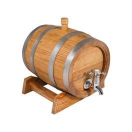 Бочка для вина с краном 5 л Люкс (колотый дуб)