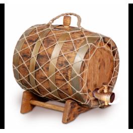 Бочка для вина с краном под старину 10 л Премиум (кавказский дуб)