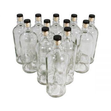 Комплект бутылок «Абсолют» с пробкой 1 л (12 шт.) в Уфе