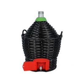 Бутыль в пластиковой корзине 34 л с краном