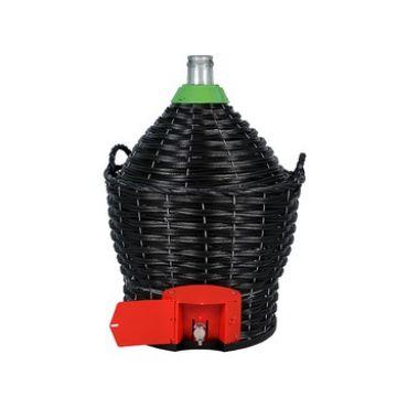 Бутыль в пластиковой корзине 54 л с краном