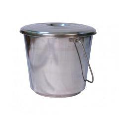 Ведро из нержавеющей стали с крышкой 8 литров