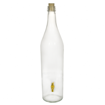 Стеклянная бутыль с краном
