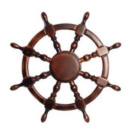 Штурвал сувенирный средний (береза, лакированный)